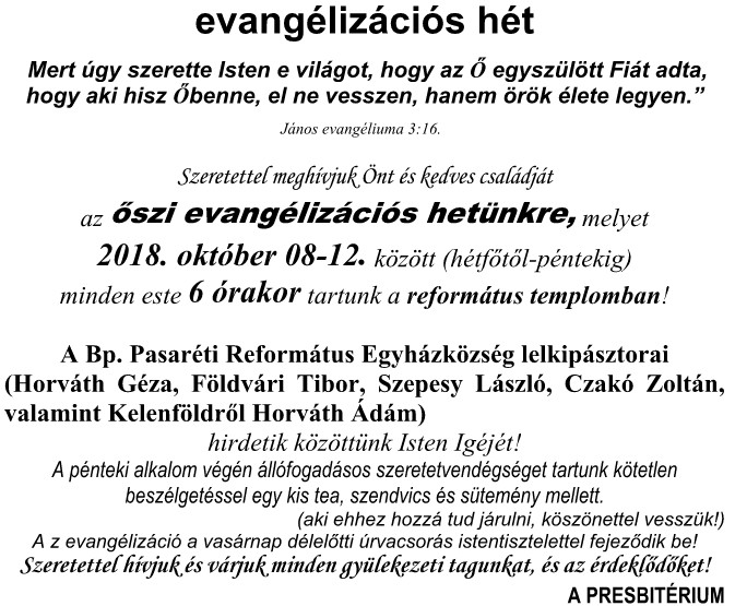 Evangelizációs hét
